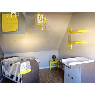 suspension jaune deco chambre bebe jungle