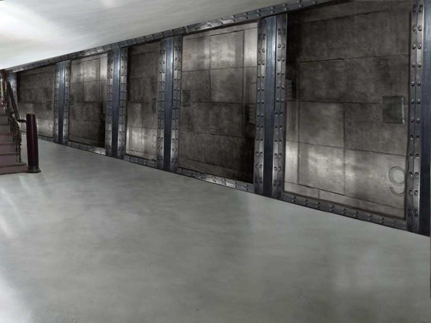 restaurant futur style industriel murs métal