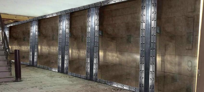 Décoration de surfaces murs métal style industriel