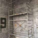 restaurant murs métal riveté industriel en travaux