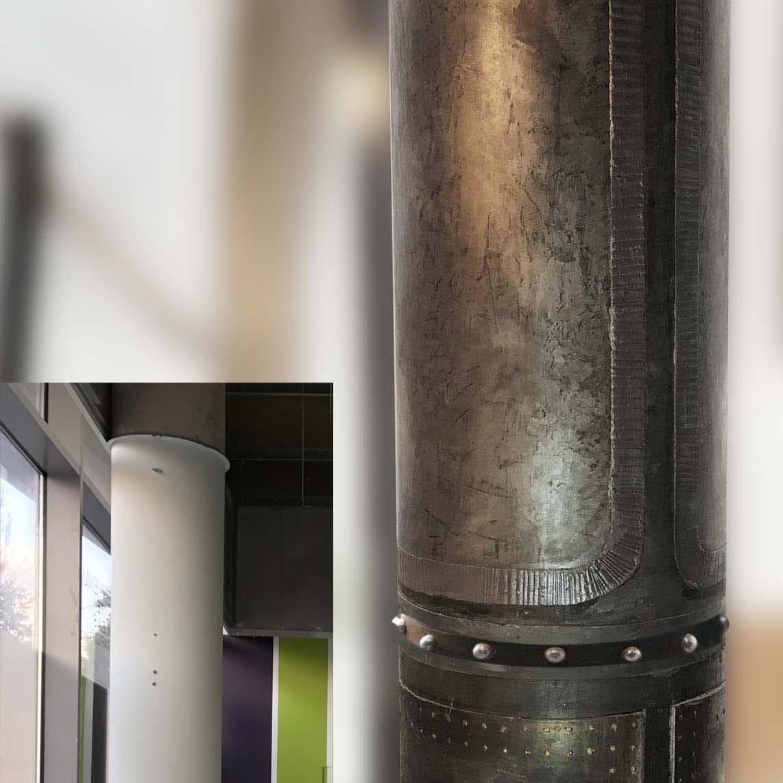 murs métal style industriel