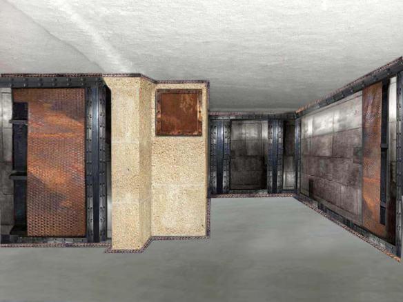 restaurant décoration style industriel murs métallisés