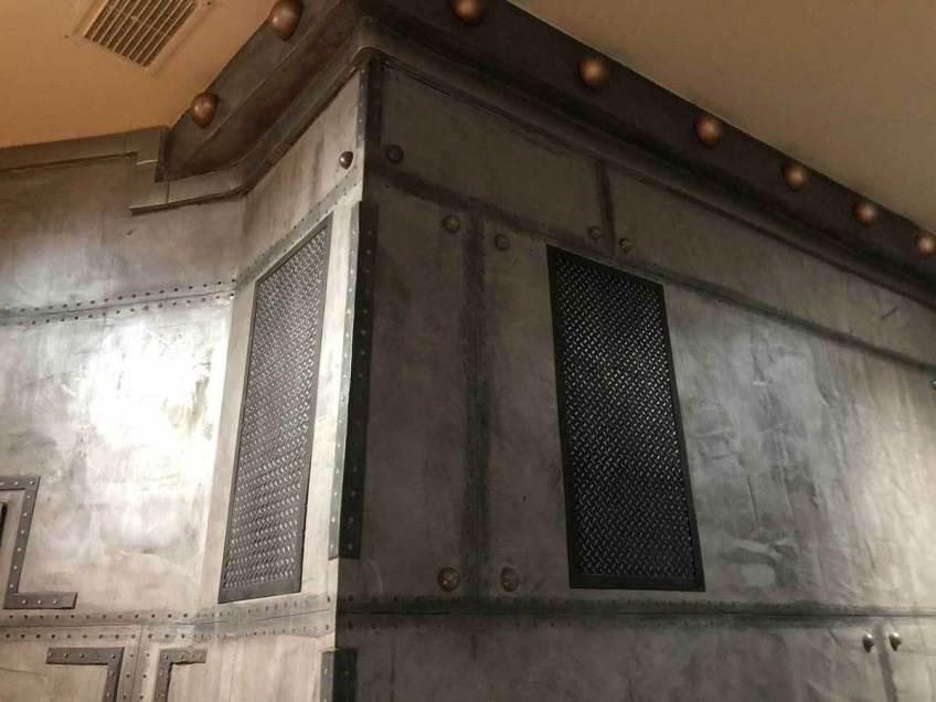 fausse grille aération fausse grille aération brasserie décoration de style industriel