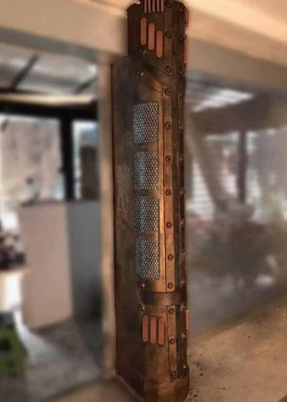 colonne customisée style industriel