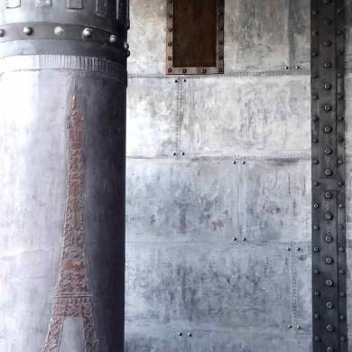 style industriel avec murs metal et IPN style eiffel