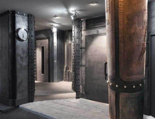 renovation decoration de magasin avec colonne et IPN style Eiffel