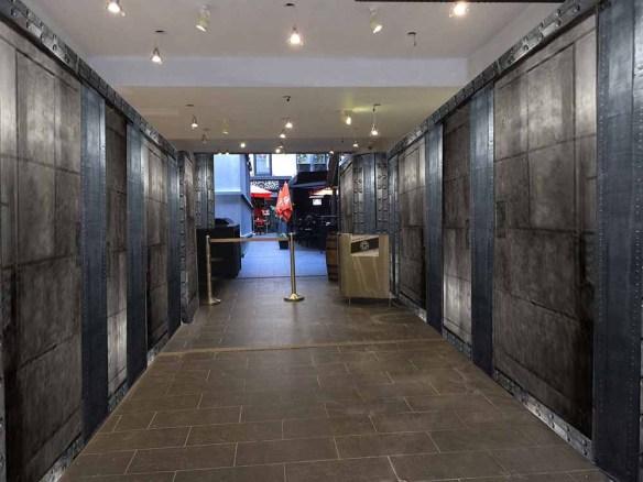 Décoration murs hall d'immeuble