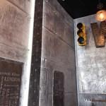trompe l'oeil métal sur des murs style industriel avec ipn style eiffel