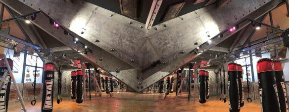 salle de boxe poutres métal style eiffel