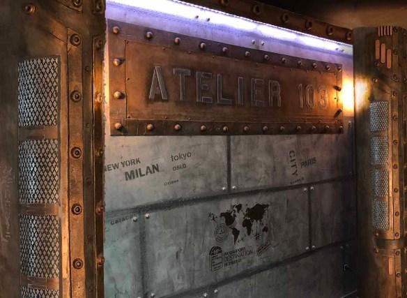 murs métal style eiffel