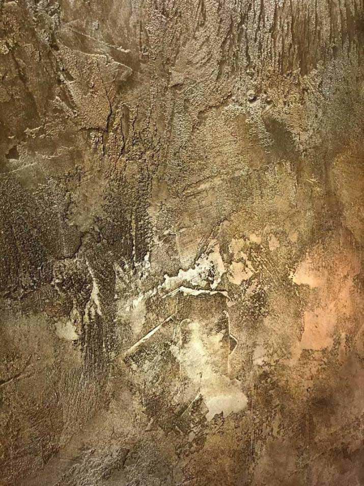 murs métal décoration de style industriel or