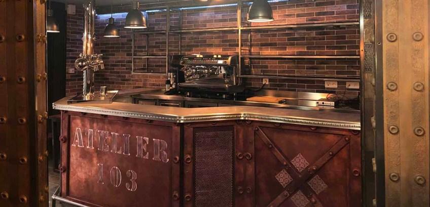 décoration style industriel bar brasserie