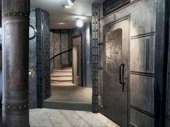 réfection hall immeuble murs métal et IPN style Eiffel