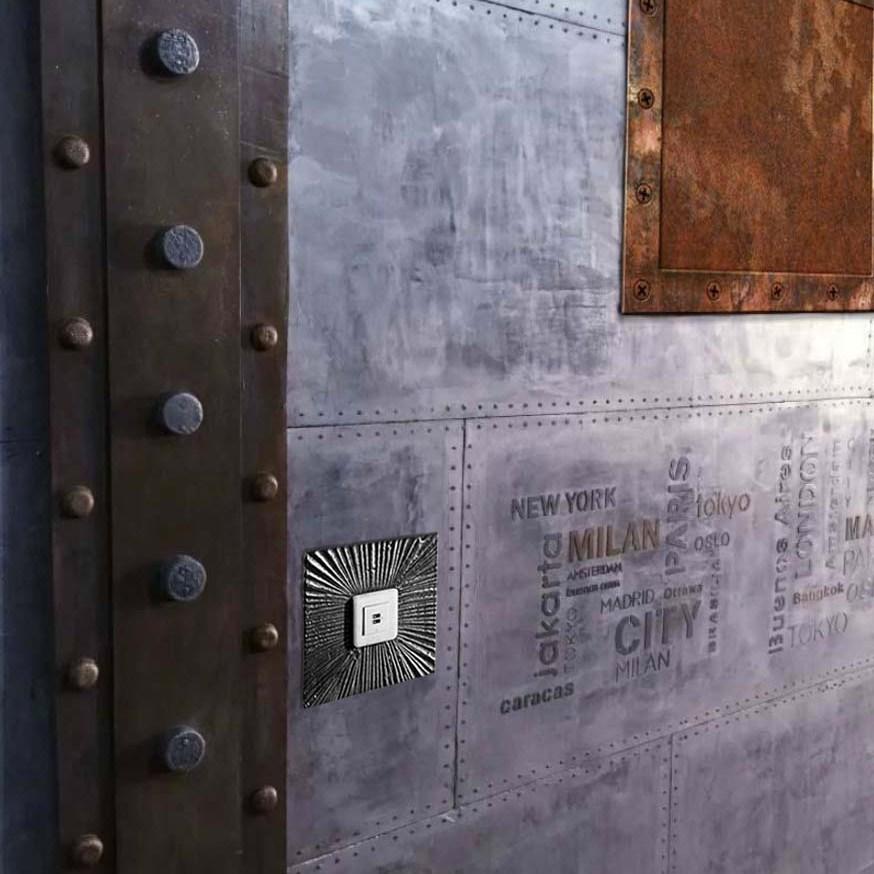 Décoration sur BA13 pour des murs métal style industriel