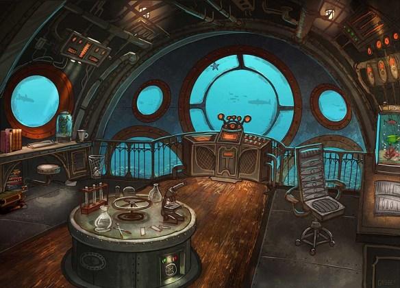 Décoration Jules Verne et le Nautilus steampunk