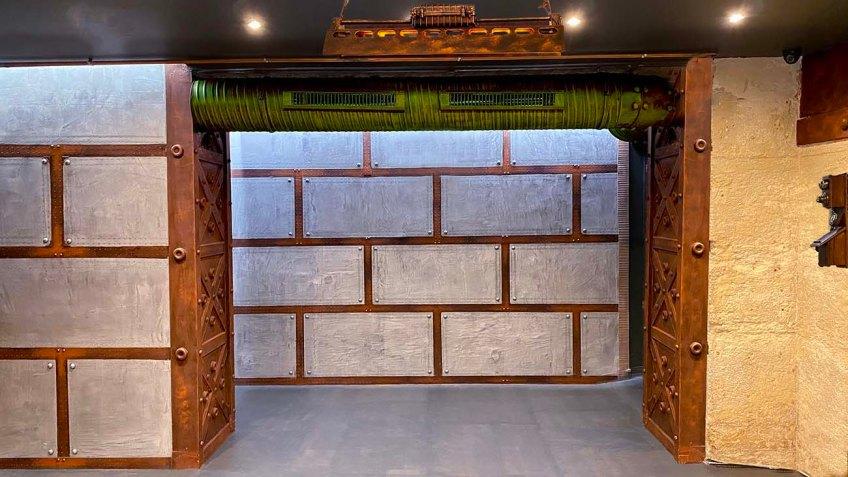 Murs métal salle de concert décorateur d'intérieur