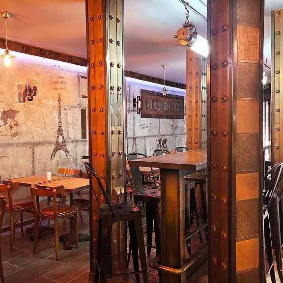 Décorateur murs métal et IPN Eiffel