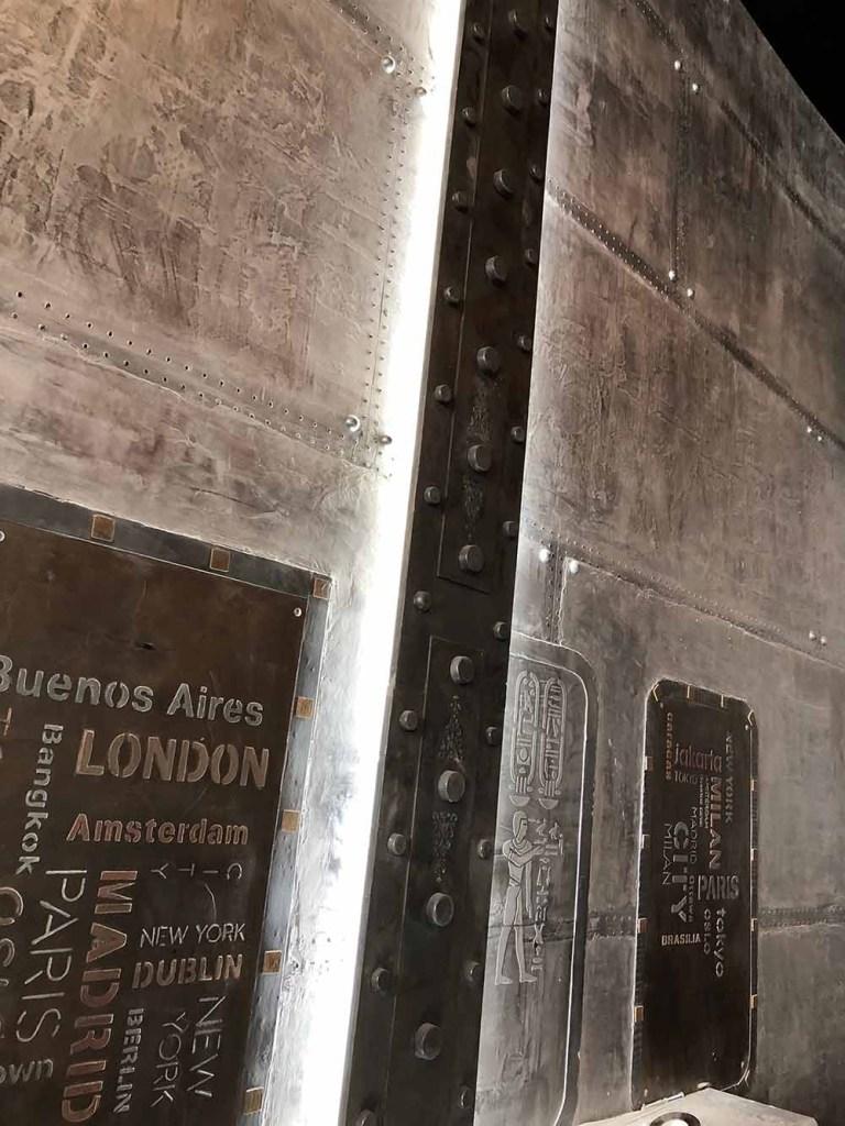 Revêtement mural sur BA13 murs métal et IPN style Eiffel