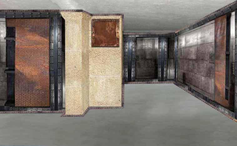 agencement restaurant style industriel murs métal et IPN style Eiffel