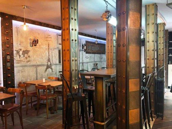 deco mur style industriel restaurant style Eiffel
