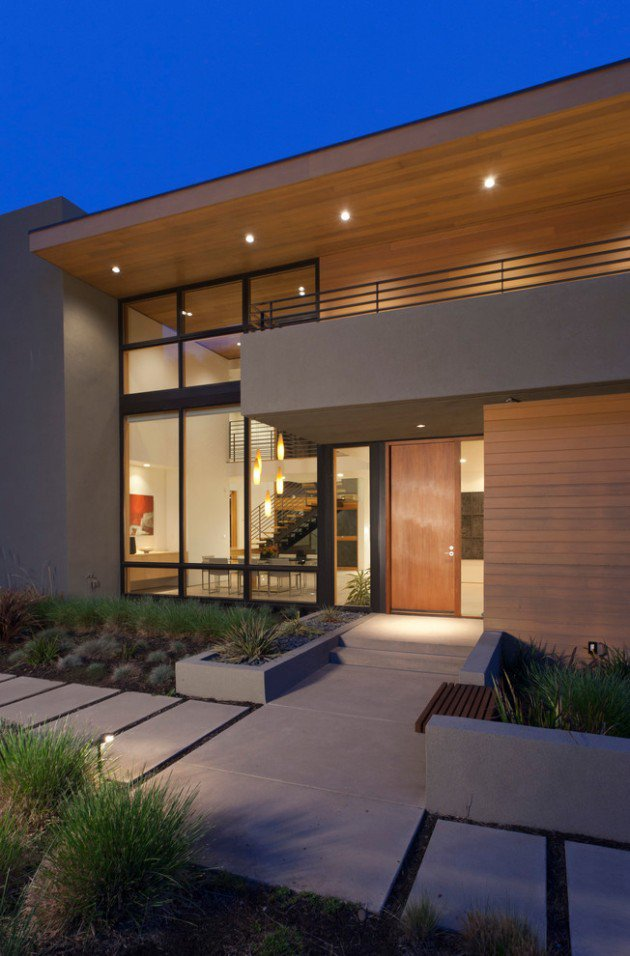 25 Stunning Modern Exterior Design Ideas - Decoration Love on Modern Entrance Design  id=37001