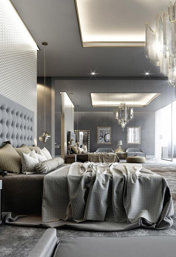 15 Beautiful Grey Bedroom Design Ideas - Decoration Love