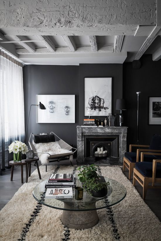 It's likely you and your guests will spend countless hours in this room, discussing and entertaining. 25 Dark Living Room Design Ideas - Decoration Love
