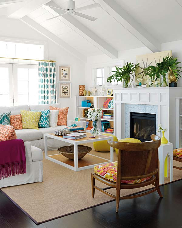 30 Colorful Living Room Design For Charming Look ... on Fun Living Room Ideas  id=73526