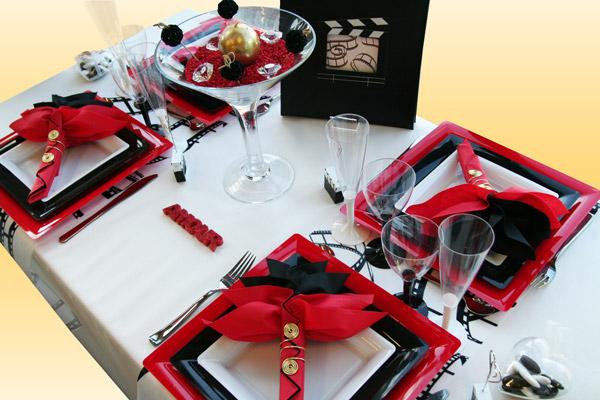 Deco Table Noir Et Rouge Interesting Elegant Deco Table