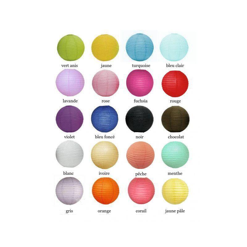 Gallery Of Le Lampion Boule En Papier Coloris With