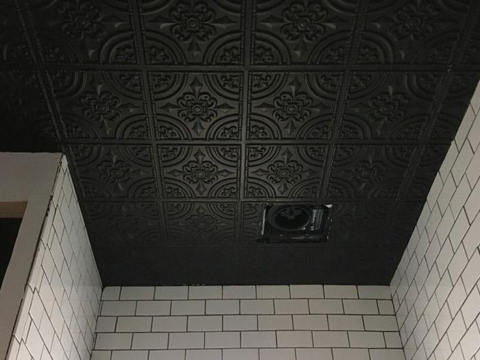 black ceiling tiles decorative