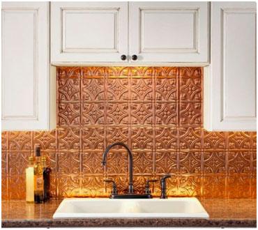 farmhouse tin tile backsplashes bring