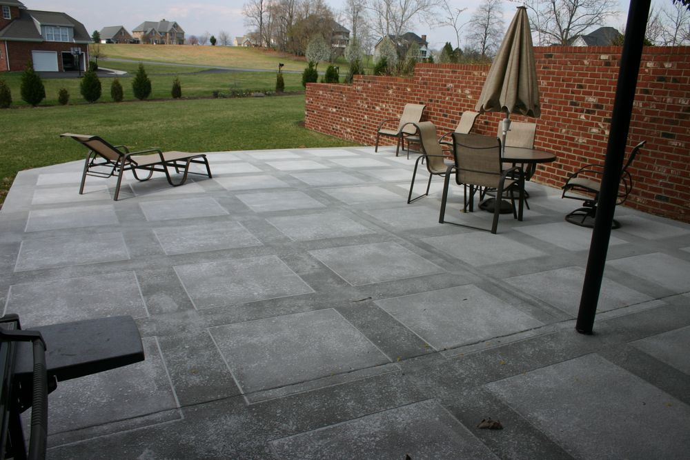 Concrete Patios, Pool Deck, Driveway and Sidewalk Ideas ... on Backyard Concrete Patio Designs  id=63879