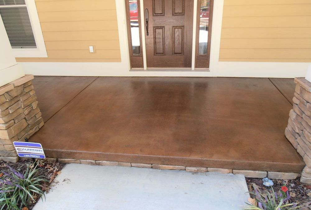 Stained Concrete for Exterior Porches & Patios