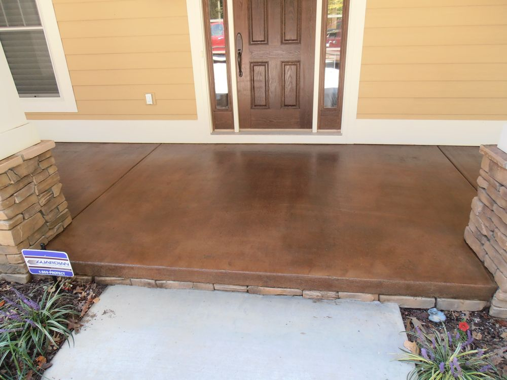 Stained Concrete For Exterior Porches Patios Decorative. Color Chart Images