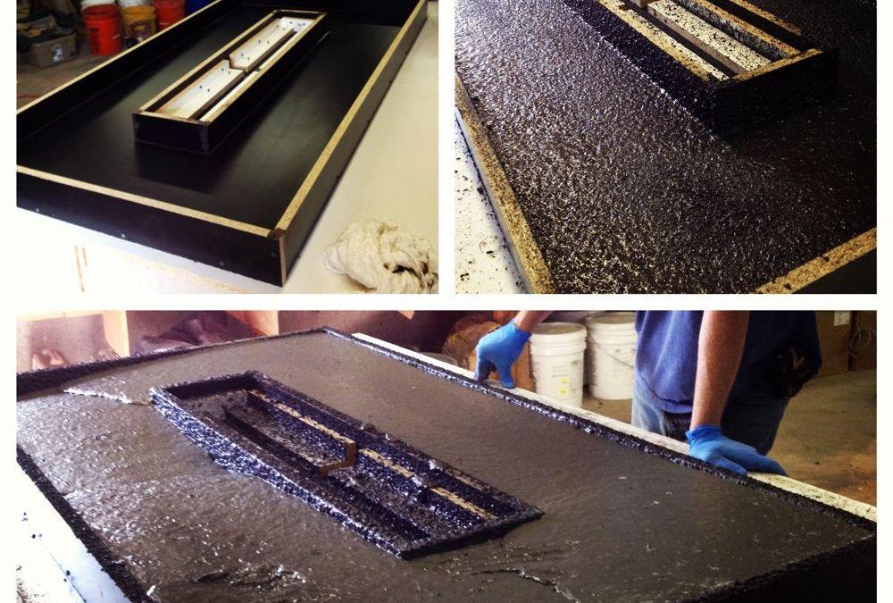 How we do it :: Pouring a (GFRC) Concrete Countertop