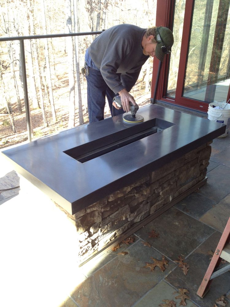 Building A Concrete Countertop For A Fire Pit Decorative