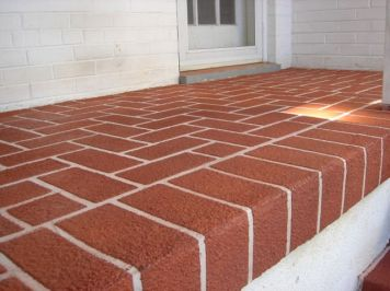 Sprayed Concrete Overlay in a Brick Pattern