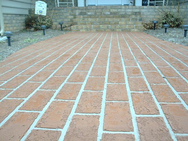 Sprayed Concrete Overlay in a Brick Pattern