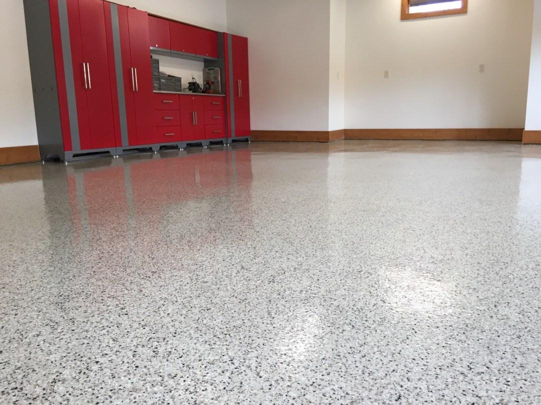 Vinyl Chip Epoxy Garage Floor Concrete Virginia