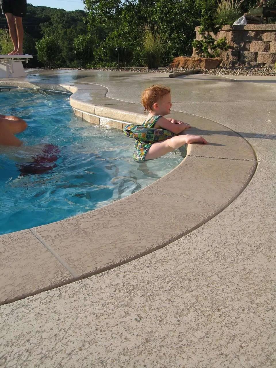 Pool Deck Ideas St Louis, MO | Decorative Concrete Resurfacing on Pool Deck Patio Ideas  id=97937
