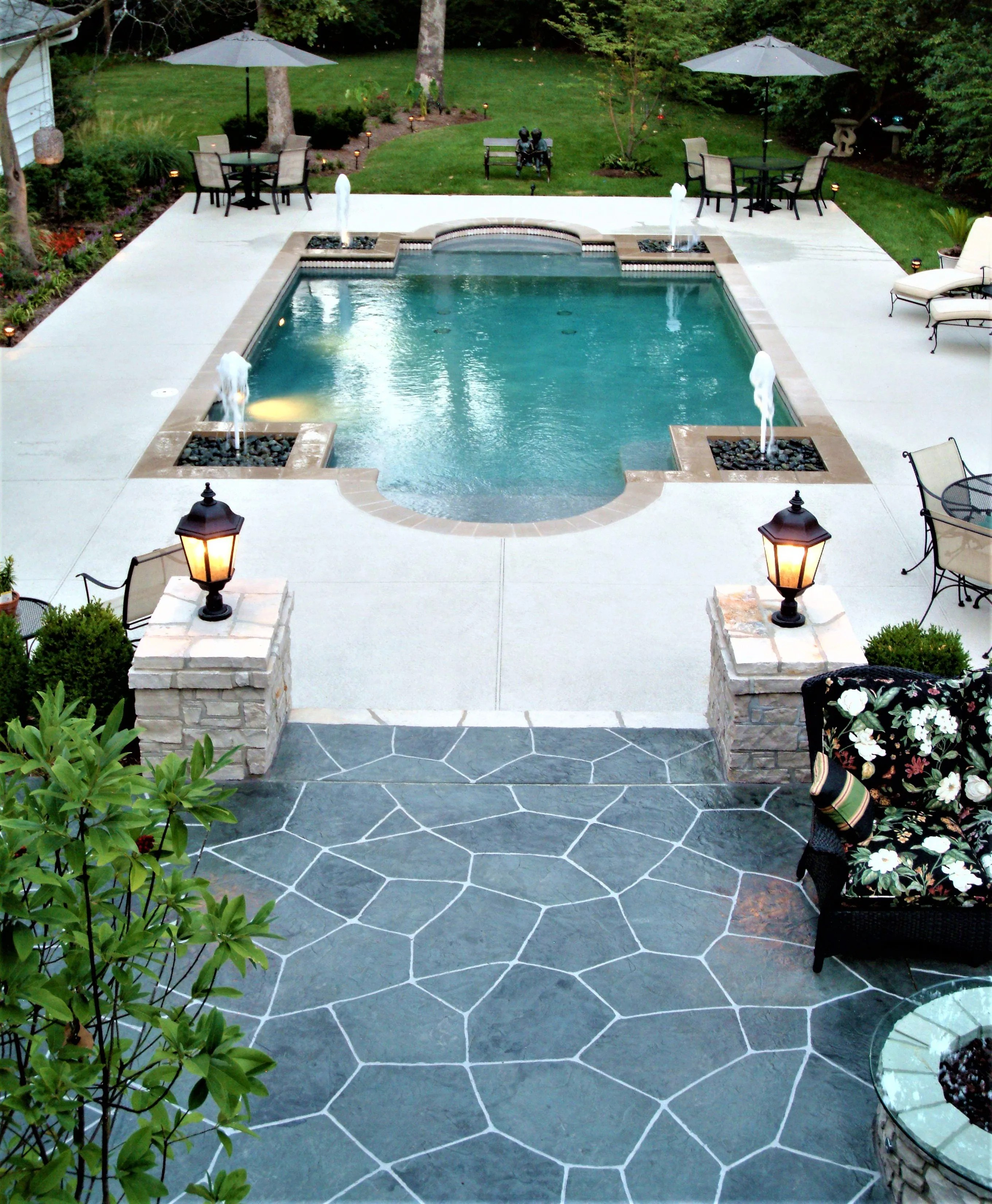Pool Deck Ideas St Louis, MO | Decorative Concrete Resurfacing on Pool Deck Patio Ideas id=92863