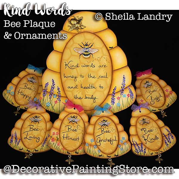 LAS18251web-Kind-Words-Bee-Plaques-and-Ornaments