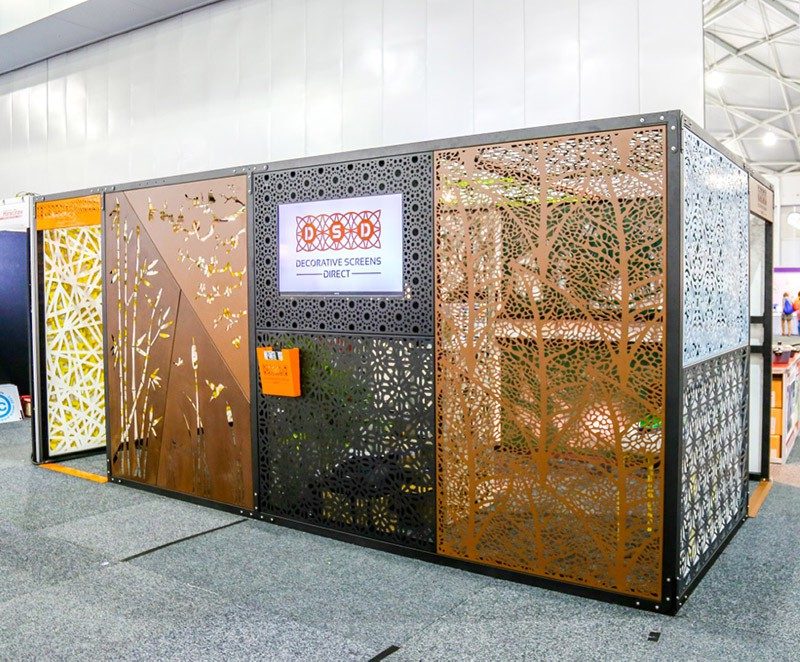 Laser cut Home Show Display with multiple designs