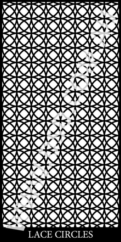 Lace Circles Laser Cut Decorative Screen Designs