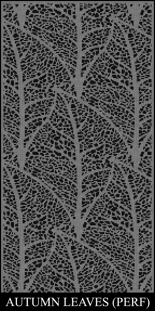 Autumn Leaves Perf Screen Design