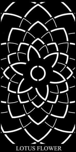 Lotus Flower Decorative Garden Screen