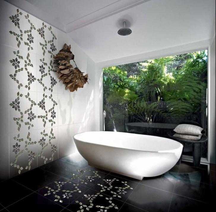 حائط حمام رائع 7 تصميمات حوائط مبهرة في 10 حمامات مودرن رائعة