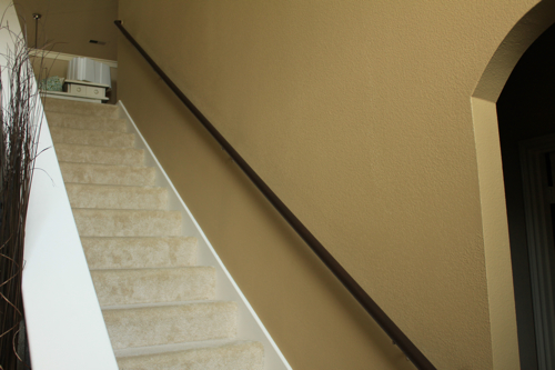 staircase makeover before
