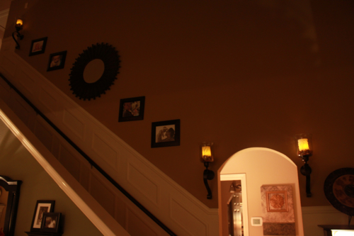 staircase makeover candles
